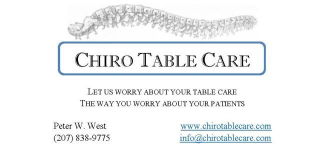 Chiro Table Care is your premier table repair and maintenance service provider in the New England area.